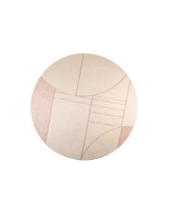 Zuiver Vloerkleed Bliss Round Natural/Pink 240cm