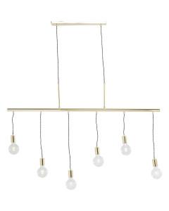 Kare Hanglamp Pole Brass Six