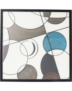 Kare Wandfoto Circles 90x90cm