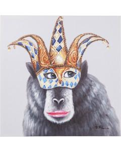 Kare Schilderij Touched Carnival Monkey 70x70cm