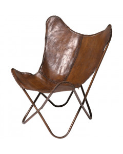 Kare Fauteuil Butterfly Brown