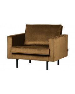 Be Pure Fauteuil Rodeo Velvet Honing Geel