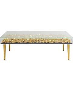 Kare Salontafel Gold Flowers 120x60cm