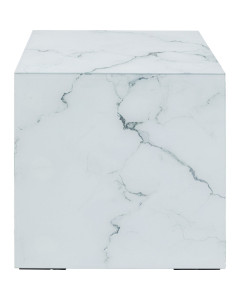 Kare Bijzettafel Luxury Marble 45x45 cm