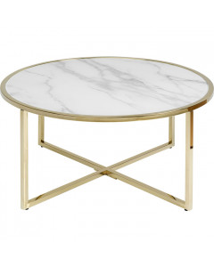Kare Salontafel West Beach Brass Ø80cm