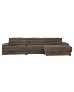 Be Pure Bank Date Chaise Longue Rechts Grove Ribstof Mud