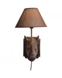 Kare Wandlamp Neushoorn