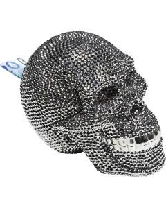 Kare Spaarpot Skull Silver
