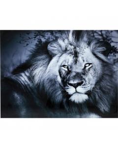 Kare Wandfoto Glass Lion King Lying 120x160cm