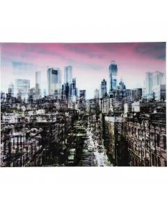 Kare Wandfoto Glass NY Skyline 120x160 cm