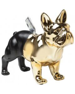Kare Spaarpot Bulldog Gold/Black