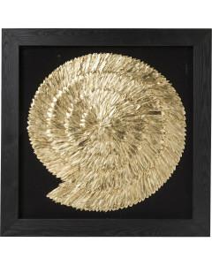 Kare Deco Frame Golden Snail 120x120 cm