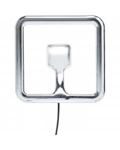 Kare Wandlamp Clip Square Chrome LED