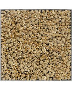 Kare Deco Frame Gold Flower 120x120