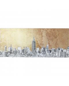 Kare Wandfoto Metallic NY View 50x120 cm