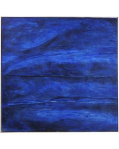 Kare Olieschilderij Abstract Deep Blue 155x155 cm
