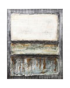 Kare Olieverf Schilderij Abstract Grey Line One 150x120cm