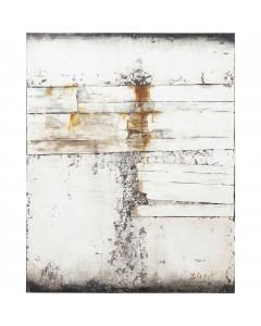 Kare Olieverf Schilderij Abstract Grey Line Two 150x120cm