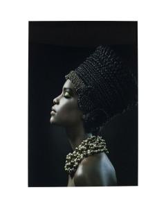 Kare Wandfoto Glass Royal Headdress Profile 150x100cm