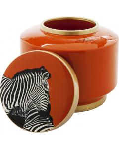 Kare Decoratiepot Zebra Oranje