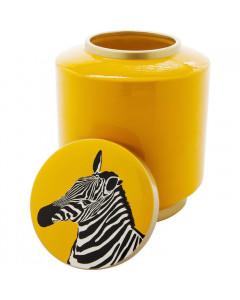 Kare Decoratiepot Zebra Geel