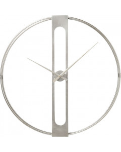 Kare Wandklok Clip Silver 60cm