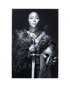 Kare Wandfoto Glass Lady Knight 150x100cm