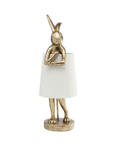 Kare Tafellamp Animal Rabbit Gold