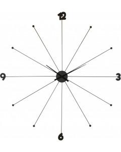 Kare Wandklok Umbrella Zwart