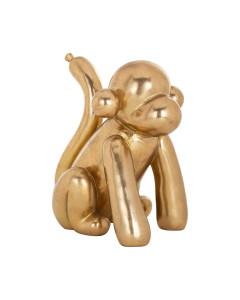 Richmond Decofiguur Monkey Gold 25cm