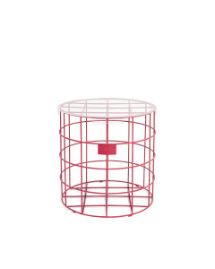 Bold Monkey Bijzettafel Cage Fight Round Pink