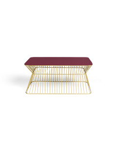 Bold Monkey Salontafel No Offence Wine Red