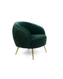 Bold Monkey Fauteuil So Curvy Dark Green