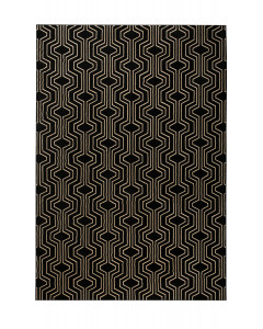 Bold Monkey Vloerkleed Swinging Lines Black 200x300 cm