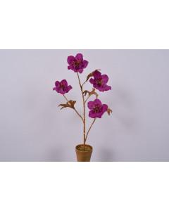 Silk-ka Kunstplant Helleborus in Pot Goud Lavendel 57cm
