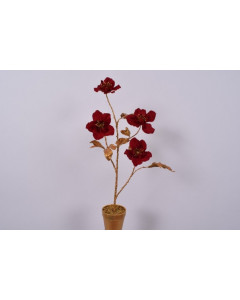 Silk-ka Kunstplant Helleborus in Pot Goud Rood 57cm