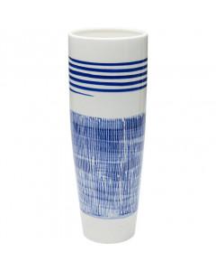 Kare Vaas Grid Blue Line 40cm