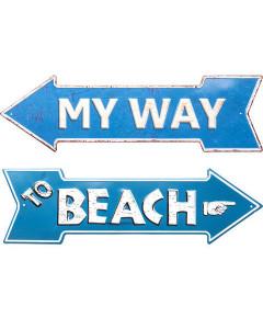 Kare Wanddecoratie My Way Beach