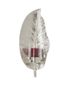 Kare Wandkandelaar Leaf Silver