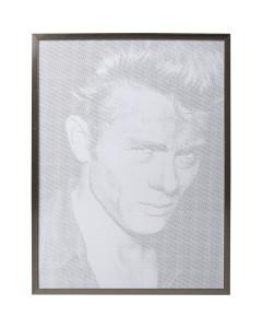 Kare Schilderij Idol Pixel James 104x79