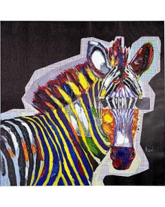 Kare Schilderij Touched Wildlife Zebra 80x80cm