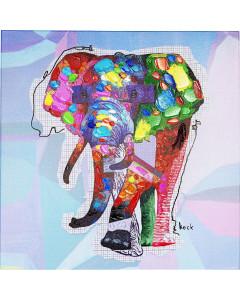 Kare Schilderij Touched Wildlife Elephant 80x80cm