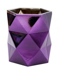 Kare Theelichthouder Rhomb Purple 11 cm