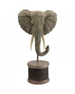 Kare Decofiguur Elephant Head Pearls 76cm