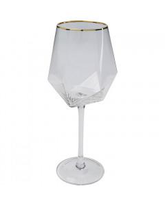 Kare Wijnglas Diamond Gold Rim