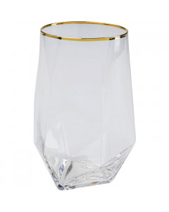 Kare Waterglas Diamond Gold Rim