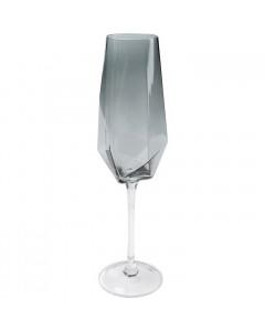Kare Champagneglas Diamond Smoke
