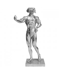 Kare Decofiguur Muscle Dog Silver
