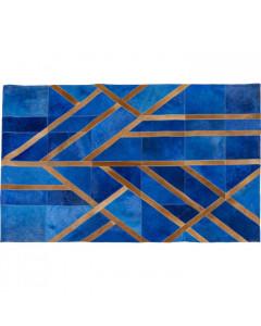 Kare Vloerkleed Lines Blue 170x240cm