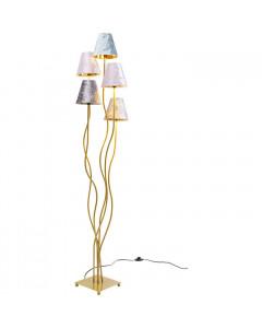 Kare Vloerlamp Flexible Velvet Brass Cinque
